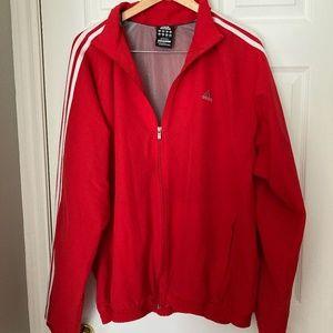 Red Adidas Windbreaker